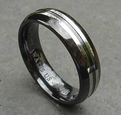 Contemporary wedding ring for men
