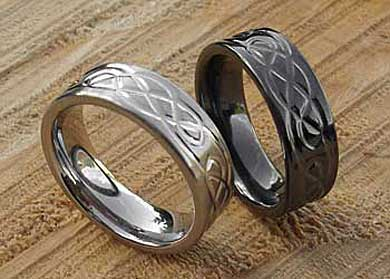 Designer Celtic titanium ring