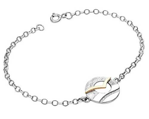 Designer gold and silver chain bracelet