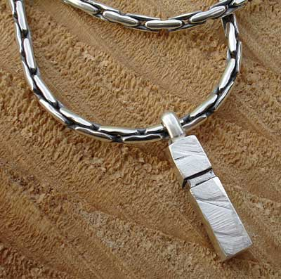 Designer mens silver chain and pendant