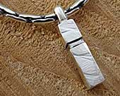 Designer men's silver chain and pendant