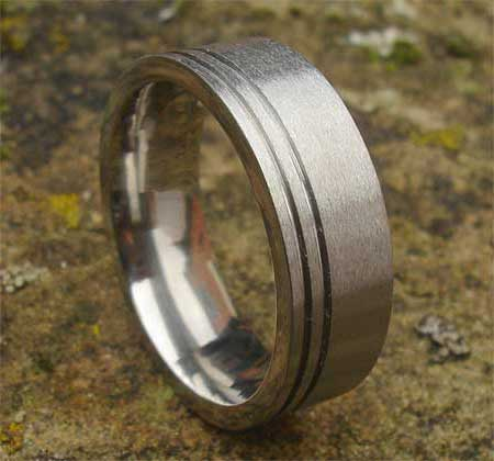 Designer plain wedding ring for men