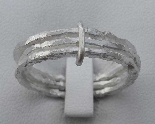 Contemporary Silver Designer Rings Set
