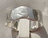 Designer silver wedding ring