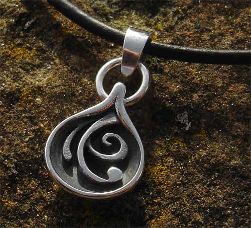Womens Silver Tribal Necklace