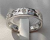 White gold diamond wedding ring