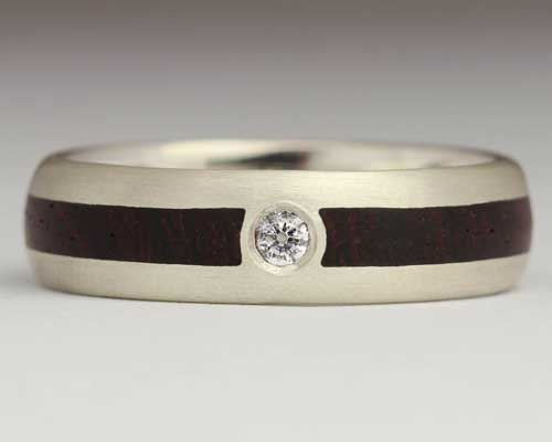 Diamond & Wood Engagement Ring