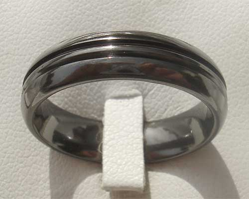 Size U Black Wedding Ring