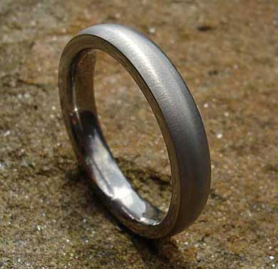 Domed plain wedding ring