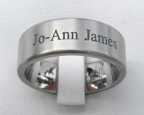 Personalised Titanium Ring For Men & Women