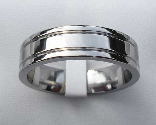 Flat plain wedding ring