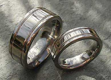 Flat plain wedding rings
