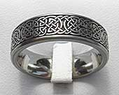 Celtic knot titanium ring