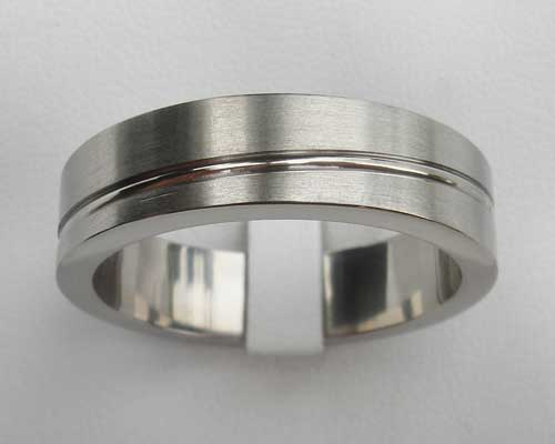 Flat Profile Titanium Wedding Ring
