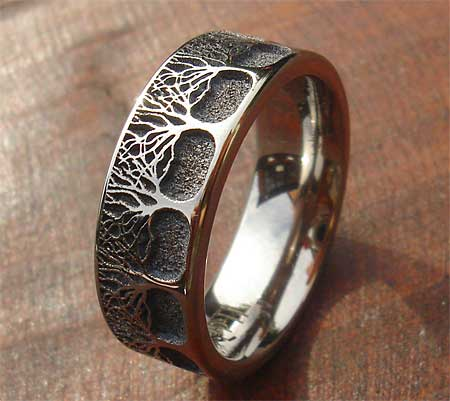Titanium ring forest pattern