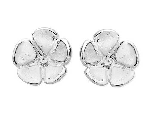 Forget me not sterling silver stud earrings