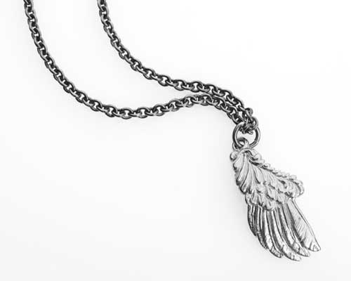 Free Bird Silver Necklace