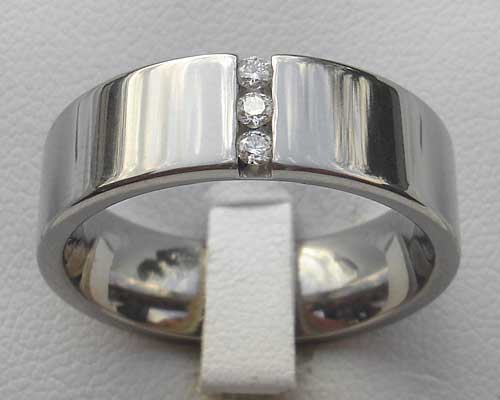 Gentlemen's Channel Set Diamond Ring