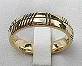 Gold Ogham ring
