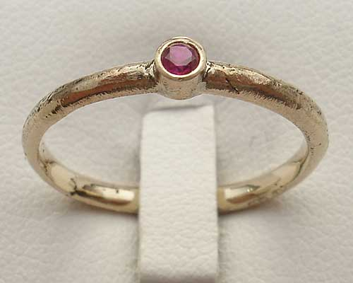 Gold ruby engagement ring