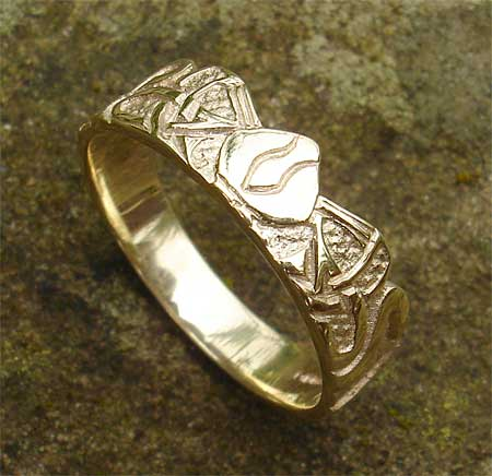 Norse Scottish Wedding Ring LOVE2HAVE in the UK