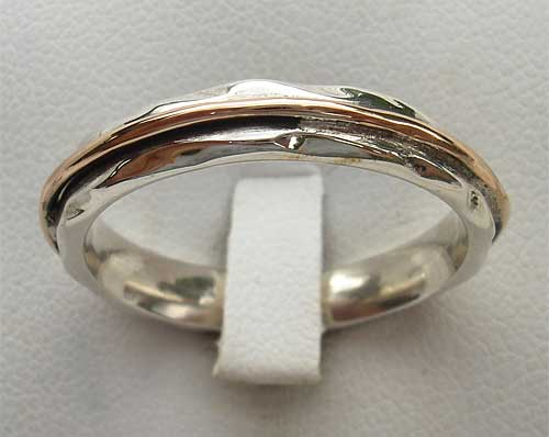Womens Gold & Silver Designer Ring