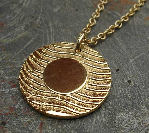 gold surf necklace