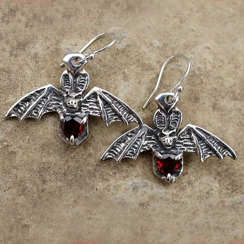 Gothic bat Earrings