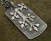 Gothic silver necklace