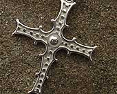 Gothic Celtic silver cross necklace