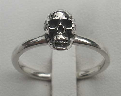 Gothic Sterling Silver Skull Ring