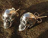 Gothic skull earrings