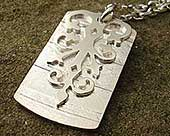 Gothic sterling silver necklace