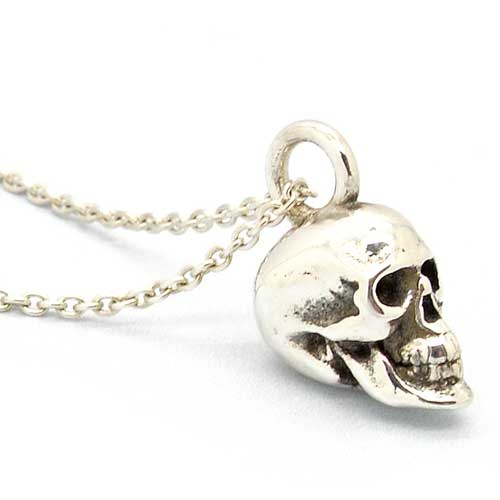 Gothic Sterling Silver Skull Necklace
