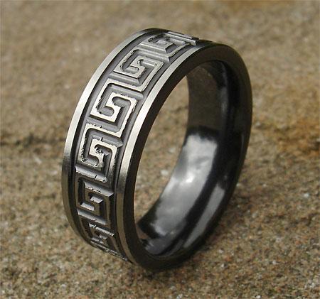 Men S Greek Key Wedding Ring Love2have In The Uk