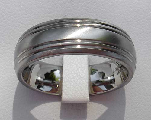 Dome Profile Titanium Wedding Ring