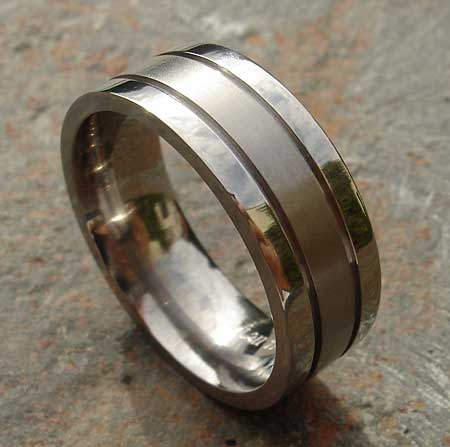Unusual Grooved Wedding Ring Love2have In The Uk