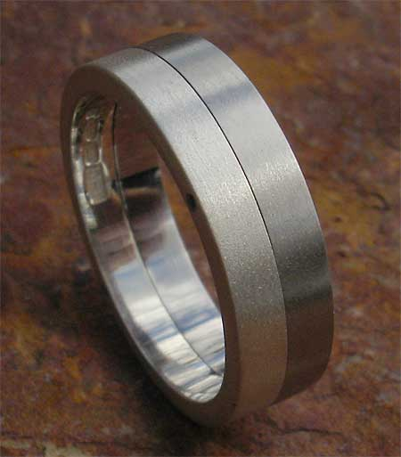 Size V Steel Wedding Ring