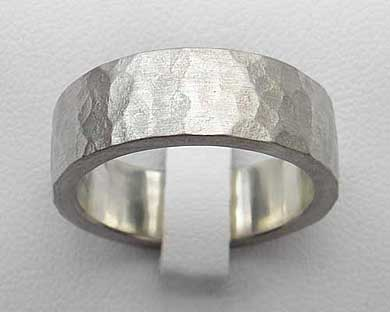Hammered Silver Wedding Ring Love2have In The Uk
