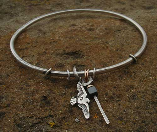 Womens Designer Silver Bangle