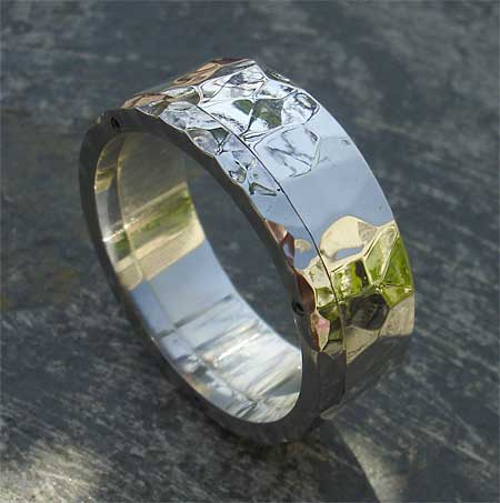 damascus band steel rings wedding stainless com ring dp amazon