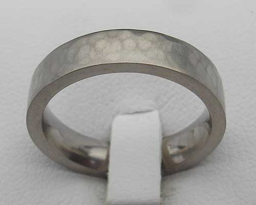 flat hammered steel wedding ring lovehave in the uk