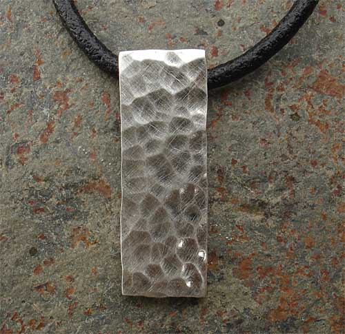Small Hammered Silver Pendant