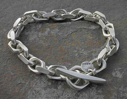 Men s Chunky Silver Chain Bracelet   LOVE2HAVE in the UK! fe219478a