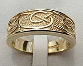 Handmade Celtic wedding ring