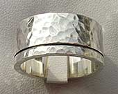 Handmade chunky silver wedding ring