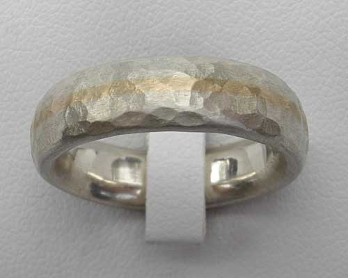 wedding yellow by finish dappled hammered handmade murielandlily lightly gold ring original lily muriel product