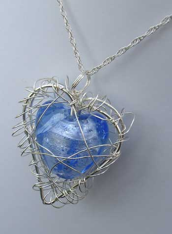 Handmade heart necklace