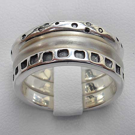 Handmade silver Celtic rings