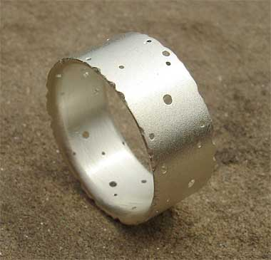 Handmade sterling silver wedding ring